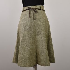 J. Crew Tweed 100% Wool A Line Skirt